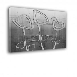Betonowe kwiaty - obraz nowoczesny nr 2185