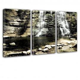 Wodospad - obraz na płótnie - tryptyk nr 2618