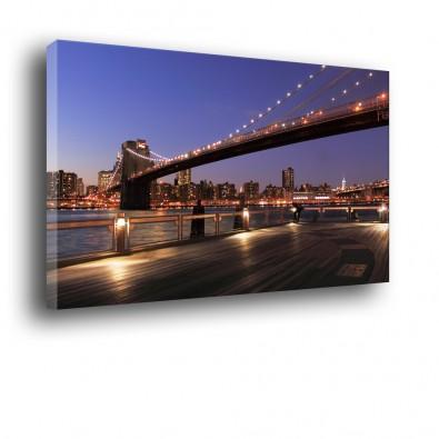 Most na Manhattan w Nowym Yorku obraz