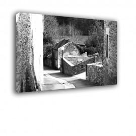 Uliczka czarno biała - obraz na ścianę nr 2200