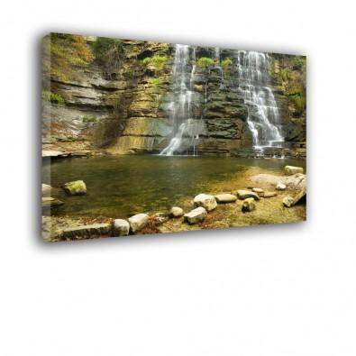 Wodospad skały - obraz na płótnie nr 2201