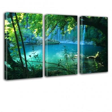 Jeziorko - obraz na płótnie tryptyk nr 2619