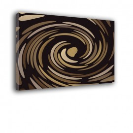 Beżowo brązowy wir | obraz nowoczesny abstrakcja nr 2222