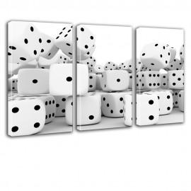 Białe kości do gry - obraz na płótnie nr 2620
