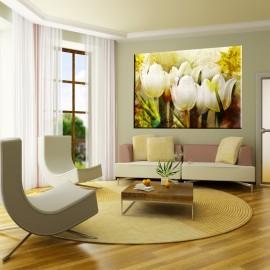 Tulipany retro - obraz nowoczesny kwiaty nr 2225