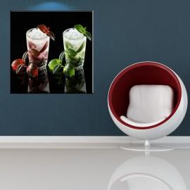 Szklanki z miętą - obraz na ścianę do kuchni nr 2236