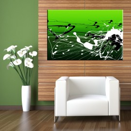 Zielone plamy - obraz nowoczesny abstrakcja nr 2237