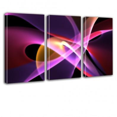 Kolorowa abstrakcja - obraz na płótnie tryptyk nr 2621