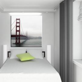 Most wiszący we mgle - obraz na ścianę nr 2243