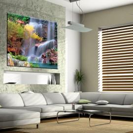 Jesienny wodospad - obraz na ścianę nr 2246
