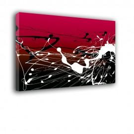 Czerwona i biała farba - obraz nowoczesny nr 2262