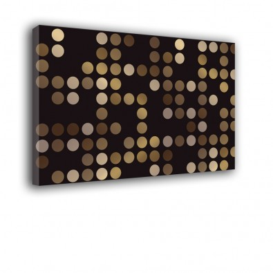 Metaliczne kropki - obraz nowoczesny nr 2265