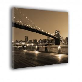 Brooklyn z mostem i przystanią - obraz nowoczesny nr 2266