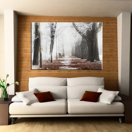 Zimowa aleja w parku - obraz na płótnie nr 2280