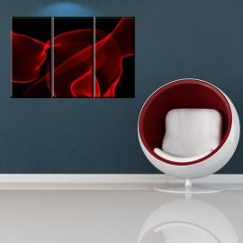 Czarna abstrakcja - obraz na płótnie tryptyk nr 2624