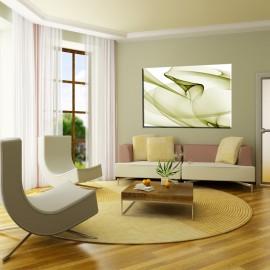 Zielona abstrakcja - obraz na płótnie nr 2287