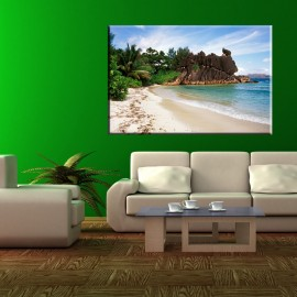 obraz na ścianę z tropikalną plażą