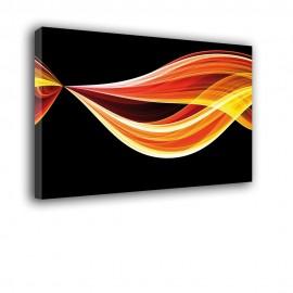 Płomienny warkocz | obraz abstrakcja nr 2298