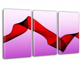 Różowa abstrakcja - obraz na płótnie tryptyk nr 2625