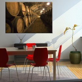 Beczki w piwnicy - obraz na płótnie nr 2312