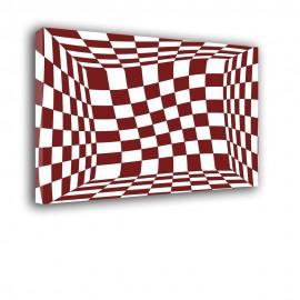 Czerwone kwadraty - obraz na płótnie nr 2316