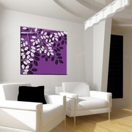 Fioletowe liście - obraz na płótnie nr 2326