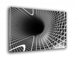 Tunel czarno biały | obraz abstrakcja nr 2336