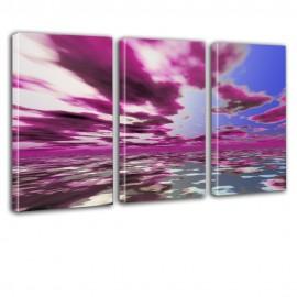 Fioletowe chmury - obraz na płótnie tryptyk  nr 2627