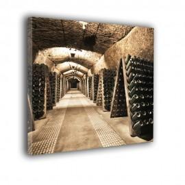 Wino w butelkach - obraz na płótnie nr 2345