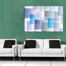Błękitna abstrakcja - obraz na płótnie nr 2349