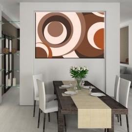 Przestrzenne koła - obraz nowoczesny abstrakcja nr 2373