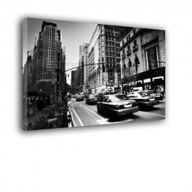 Czarno białe TAXI - obraz na płótnie nr 2376