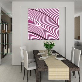Różowy języczek uwagi - obraz nowoczesny abstrakcja nr 2377