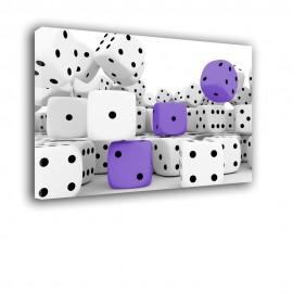Fioletowe kostki do grania - obraz na płótnie nr 2378