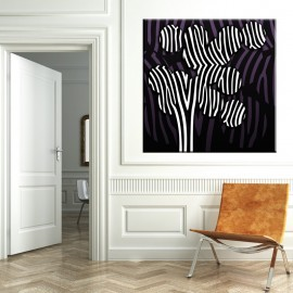 Drzewo zebra - obraz na płótnie nr 2389