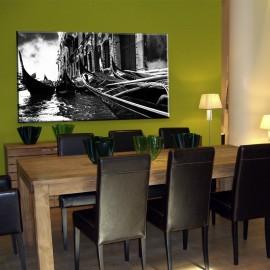 Wenecja czarno biała - obraz na płótnie nr 2390