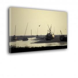 Łodzie na morzu - obraz nowoczesny nr 2395