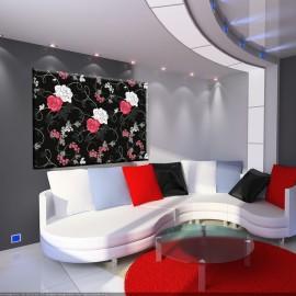 Róże w czerni - obraz nowoczesny kwiaty nr 2037