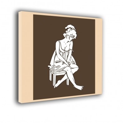 Kobieta na taborecie - obraz nowoczesny nr 2410