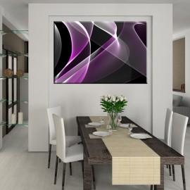 Fioletowa abstrakcja - obraz na ścianę nr 2433