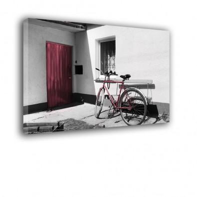 Rower przy drzwiach - obraz na płótnie nr 2444