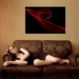 Czarny i czerwony - nowoczesny obraz abstrakcja nr 2045