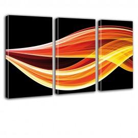 Płomienie - obraz na płótnie tryptyk nr 2039