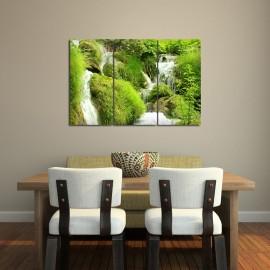 Wodospad między trawami - obraz na ścianę nr 2634