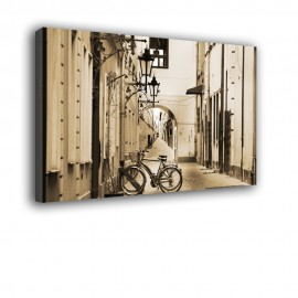 Uliczka z rowerem - obraz na ścianę nr 2473