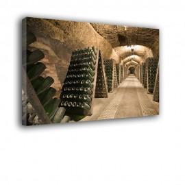 Piwnica z butelkami wina - obraz nowoczesny nr 2477