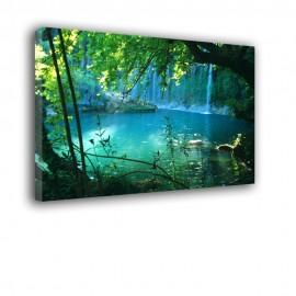 Turkusowy wodospad obraz