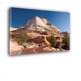 Skalista góra - obraz nowoczesny krajobraz nr 2497