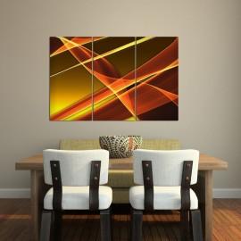 Pomarańczowe sny - obraz na płótnie - tryptyk nr 2636