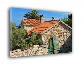 Dachy kamieniczek - obraz na płótnie nr 2502